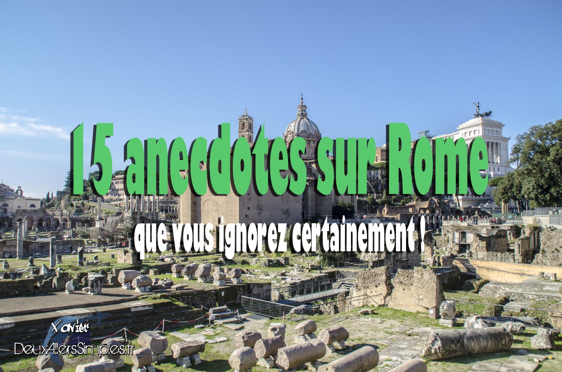 anecdotes sur Rome